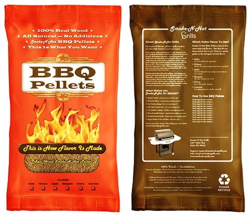 WOOD BBQ PELLETS SACK
